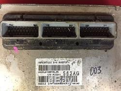 04 JEEP GRAND CHEROKEE 4.0 ECM ECU COMPUTER PCM KEY Immobilizer 56044563AG 563AE