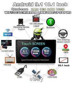 10.1 2 Din Android 9.1 Car Stereo Radio Touch Screen GPS Navigation Player 1+16