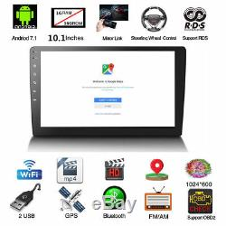 10.1 2Din Quad Core Car Stereo Radio GPS Wifi Touch MP5 Player 16G Android 8.1