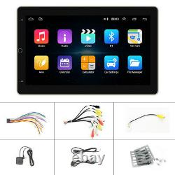10.1'' Rotatable Car Stereo Radio Android 9.1 Touch Screen GPS Wifi Double 2DIN
