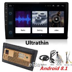 10.1 Thin Pad Touch Car Android 8.1 Stereo Radio 2DIN Head GPS Wifi Bluetooth