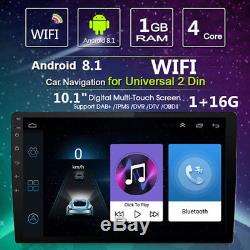 10.1in Car Android Bluetooth Stereo Radio 2 DIN Player GPS Wifi Universal 1080P
