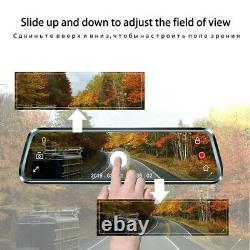 10 Touch Screen Rear View Mirror Camera Cycle Recording Night USE Dual Lens