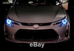 100mm RGBW Color Shifting Flashing LED Angel Eye Halo Ring Lighting Kit withRemote