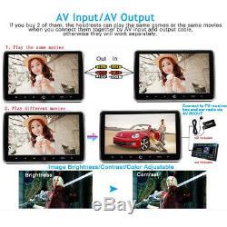 1080P 10.1 TFT LCD Screen Headrest DVD Player Car Multimedia Monitor Kit USB