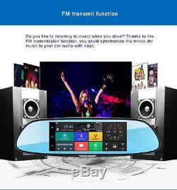 1080P 73G Car Camera DVR GPS Bluetooth Dual Len Rearview Mirror Video Recorder