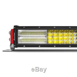 10D Curved 50inch 4032W CREE Quad Row LED Light Bar Combo Driving TRUCK 50 52