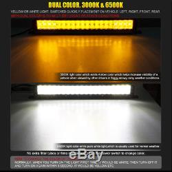 10D DUAL COLOR 15Inch 1080W CREE Led Spot Flood Combo Work Quad Rows Light Bar