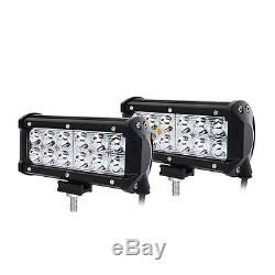10X 36W 7 CREE LED Work Light Bar Spot Offroads Lamp Jeep Boat SUV 4WD ATV 6.5