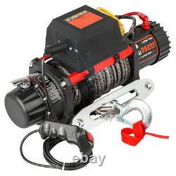 12500LB Electric Winch 12V Synthetic Cable Off-road ATV UTV Truck Towing Trailer