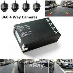 12V Car 4-Way Panoramic View Parking Backup Rearview Reversing HD Camera System