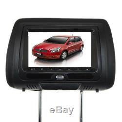 12V Headrest 7LCD Monitor withDVD Cover Remote Control Headset USB/SD/MS/MMC card