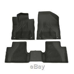14-18 Jeep Cherokee Black All Weather Rubber Floor Liner Slush Mat Set Mopar OEM