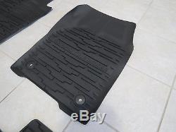 16-2017 Jeep Grand Cherokee Rubber Slush Floor Mats & Cargo Tray Liner Set Mopar