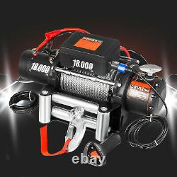 18000LBS Electric Winch 12V Steel Cable Off-road ATV UTV Truck Towing Trailer