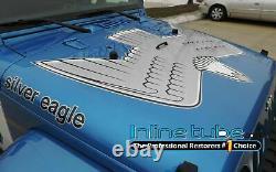 1976-2016 3M Hood Vinyl Decal Set Golden Eagle Fits Jeep CJ7 YJ JK TJ Wrangler
