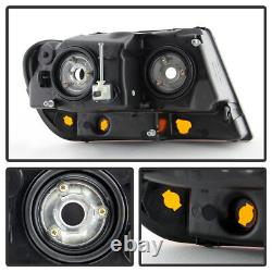 1999-2004 Jeep Grand Cherokee Laredo Headlights Lamps Replacement Set Left+Right