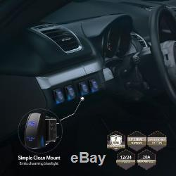 1999-2004 Jeep Grand Cherokee WJ Upper Roof 50 LED Light Bar+4 Pods Cube Combo