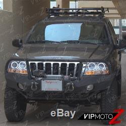 1999-2004 Jeep Grand Cherokee WJ WG Laredo Limited Halo LED Projector Headlights