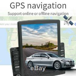 1DIN Rotatable 10.1 Android 9.1 HD 2GB+32GB Car Stereo Radio GPS Nav WiFi/3G/4G