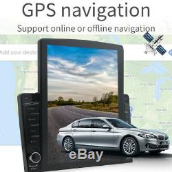 1DIN Rotatable DC12V 10.1 Android 9.1 HD Quad-core MP5 1GB+16GB Car Radio GPS