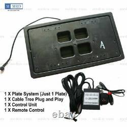 1X USA Remote Control Retractable Hide Hidden Flip License Plate Flipper Stealth