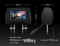 1X Whole 7 Car Headrest TFT DVD Player USB IR Remote Game Headphone Cable Plug
