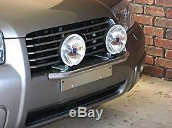 1x 23'' Chrome Bull Bar Front Bumper Working Lights License Plate Holder Braket