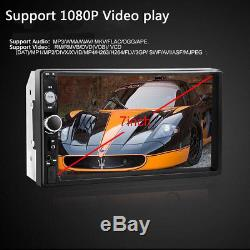 1x 7'' 2DIN Car MP5 Player Bluetooth Touch Screen Stereo Radio HD + Rear Camera