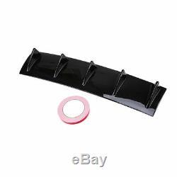 1x Carbon Fiber Color Rear Body Bumper Diffuser Shark Fin Kit Spoiler Universal