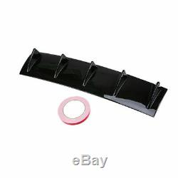 1x Imitate Carbon Fiber Rear Bumper Lower Diffuser Shark Fin Kit Spoiler Tape US