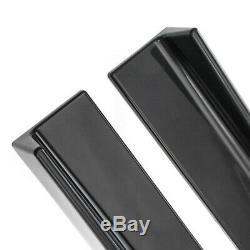 2.2M Universal Lower Side Skirts Body Kit Rocker Panel Extension Lip Glossy BLK