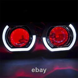 2.5'' Bi Xenon HID Projector Lens Red Demon Eyes Light for H1 H4 H7 Car Assembly