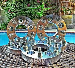 2 FORD MUSTANG WHEEL SPACERS 5X4.5 1 INCH THICK 25MM 1/2x20 GT COBRA