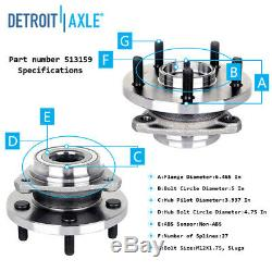 2 Front Wheel Bearing & Hub for Jeep 1999 2003 2004 Grand Cherokee 4.0L 4.7L
