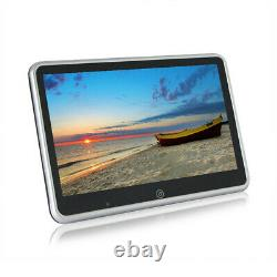 2 Pcs 10.1'' Ultra-thin Car Rear Seat Headrest Monitors MP5 Player Bluetooth HD