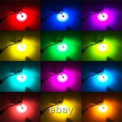 2 Pcs H7 RGB Color Changing LED Headlight Kit Phone APP Controller Light for Car