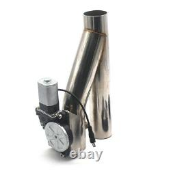 2 Steel Car Motorized Electric Exhaust Cutoff Bypass Valve Cutout + Remote Kit