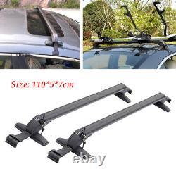 2×Universal Car SUV Roof Rail Luggage Rack Baggage Carrier Cross Aluminum 110cm