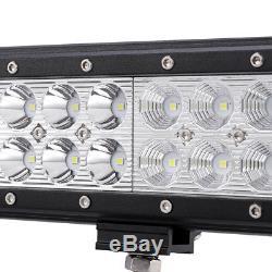 20 294W CREE LED LIGHT BAR COMBO+Bull Front Bumper License Plate Mount Bracket
