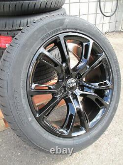 20 NEW JEEP GRAND CHEROKEE SRT8 STYLE 20x9 GLOSS BLACK RIMS 9113 TIRES SET 4 S