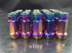 20 Pcs Open End Lug Nuts Neo Chrome 1/2x20 Thread Pitchwheel Nut Set