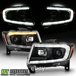 2011-2013 Jeep Grand Cherokee HID Type LED Tube Switchback Projector Headlights