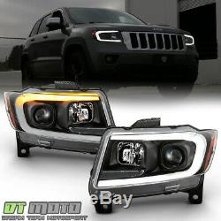 2011-2013 Jeep Grand Cherokee Switchback LED DRL Sequential Projector Headlights