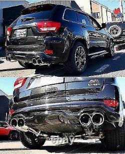 2011-2019 Jeep Grand Cherokee SRT Rear Bumper diffuser spoiler quad exhaust