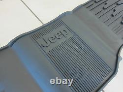 2013-2015 Jeep Grand Cherokee Rubber Slush Mats Floor Mats Front & Rear Mopar