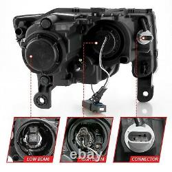 2017-2019 Jeep Grand Cherokee Black Switchback Projector Headlights Halogen Type