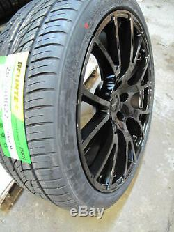 22 Jeep Grand Cherokee Durango Rims Hellcat SRT Style Gloss Black Wheels Tires