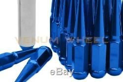 24 Blue Spike Lug Nut Kit Fits 1999-2017 Silverado 1500 Ford F-150 GMC Cadillac