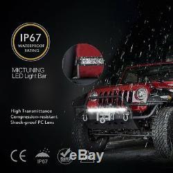 250W 50Inch Single Row Led Light Bar Slim + Wiring for Chevrolet Chevy GMC JK